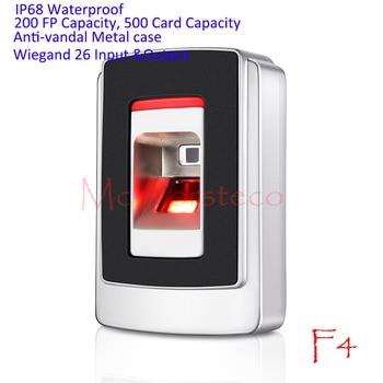IP68 Waterproof Fingerprint Access Control System Rfid Access Controller Wiegand 26 Fingerprint Reader Anti-vandal Door Opener