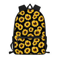 FORUDESIGNS Sunflowers College Style Student Backpack Laptop Bags Large Capacity School for Women Girl Preppy Style Mochila