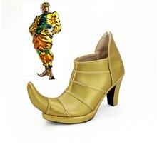 JOJOS BIZARRE ADVENTURE 3 Dio Brando zapatos de Cosplay de tacón alto hechos a medida