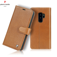 Pierre Cardin Flip Case For Samsung S9 Plus Original Phone Genuine Leather Wallet Case For Samsung Galaxy S9/ S9 Plus Flip Cover
