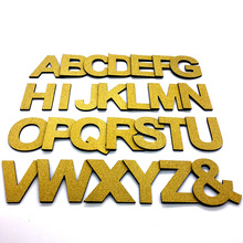 "9cm/3.54"" PVC Golden Uppercase English Letters Interior Wall Garden Wedding Decorative Alphabet Environmentally Friendly Letters(China)"