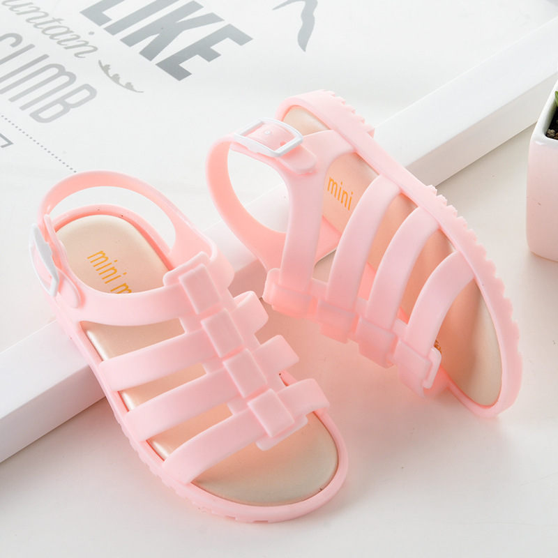 Mini Melissa Children Fashion Summer Kids Casual Hollow Striped Buckle Etal Princess Clear Clogs Mules Girls Jelly Shoes SandalsMini Melissa Children Fashion Summer Kids Casual Hollow Striped Buckle Etal Princess Clear Clogs Mules Girls Jelly Shoes Sandals