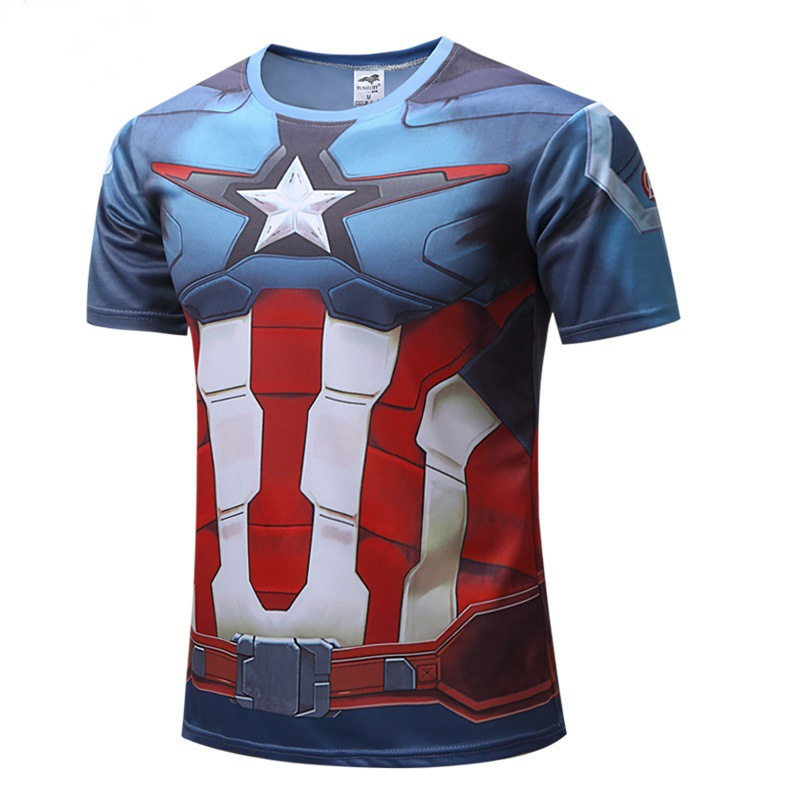 Captain America Civil War Tee 3D Printed T-shirts Men Compression Avengers Iron Man Cosplay Costumes Fitness Clothes Male Tops image