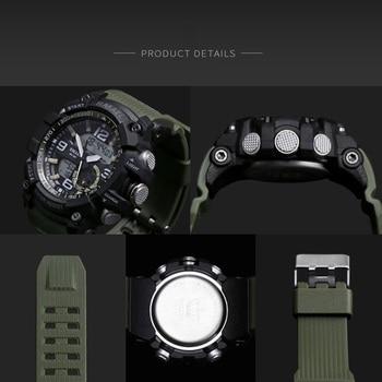 SMAEL Brand Men Sport Watch LED Digital Waterproof Casual Shock Male Clocks Relogios Masculino Men's Gift Military Wrist Watches 2