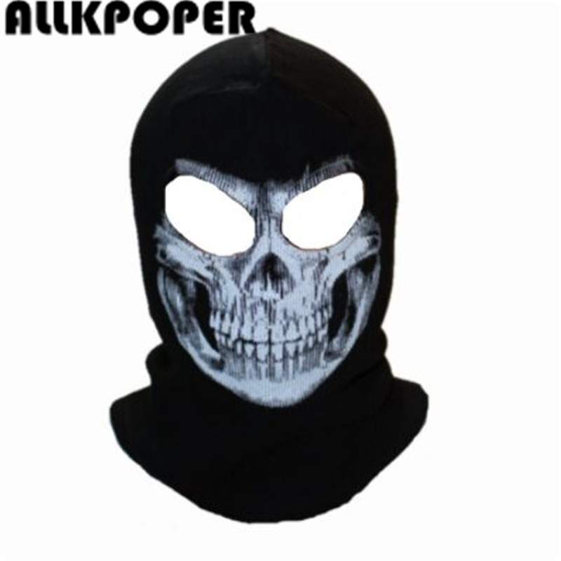 ALLKPOPER Winter Skull Mask Balaclava Beanies Hats Men Ghost Skull Full Face Mask out door Hood Beanie Gorros Hombre Casquette ghost skull full face mask cosplay balaclava paintball cs hood wargame airsoft hunting army tactical masks