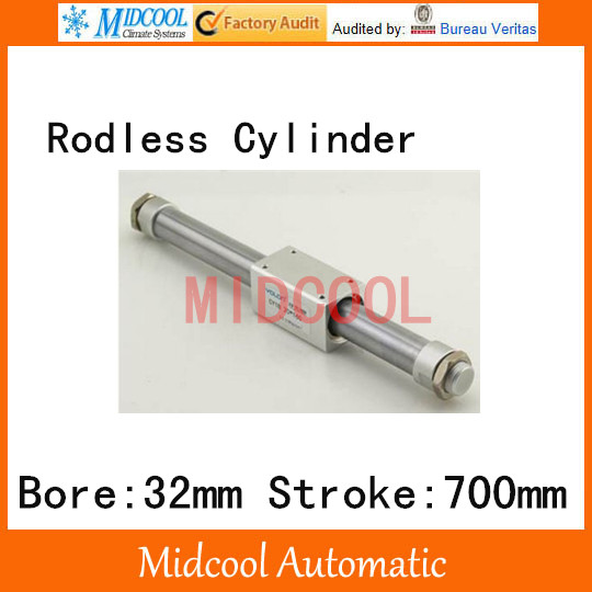 Magnetically coupled Rodless cylinder CY1B32-700 bore 32mm stroke 700mm Smooth magnetic cylinder si 32 cylinder bore 32mm stroke 700 800 900 1000mm
