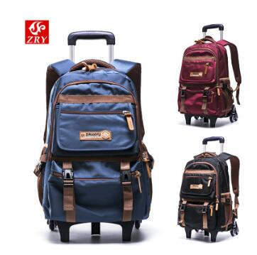 School Trolley backpack bags for boys wheeled backpacks for School Trolley bag On wheels School Rolling Bag Travel luggage bags anime attack on titan mini messenger bag boys ataque on titan school bags mikasa ackerman eren shoulder bags kids crossbody bag