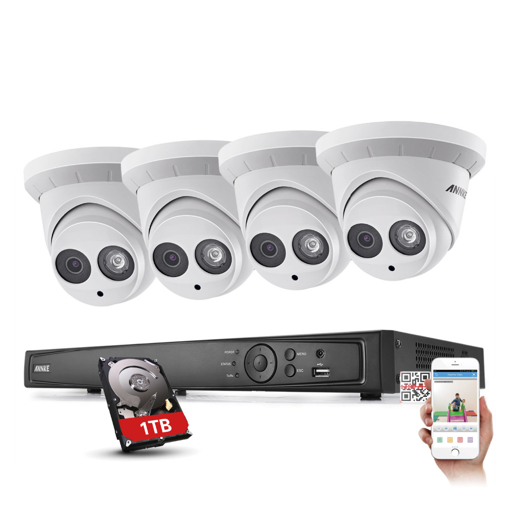 ANNKE 1080P Network POE 2MP Camera 6MP 4CH NVR Home Surveillance System  HDMI with 1TB блендер philips hr 1327 hr1327 00