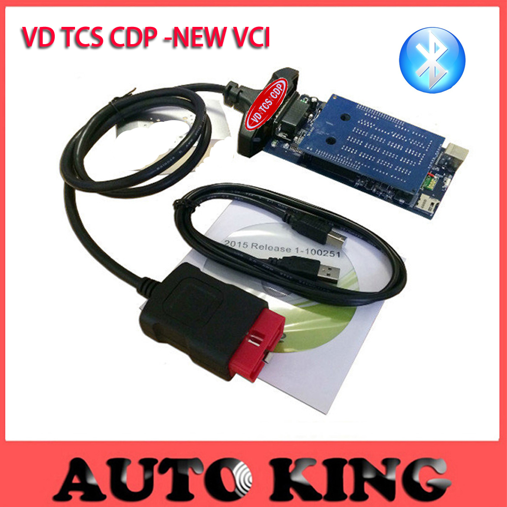 Prix pour 2 pcs/lot + DHL Libèrent le bateau! avec Bluetooth FONCTION nouveau vci obd2 outil de diagnostic pour les voitures et camions vd TCS CDP Pro Plus code lecteur