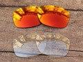 Fire Red & Crystal Clear 2 Pares de Lentes de Reposição Para Jupiter Squared Óculos De Sol Quadro 100% UVA & Uvb