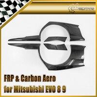 Car Styling For Mitsubishi Evolution EVO 8 9 VTX Cyber Carbon Fiber Rear Over Fender Glossy Fibre Wheel Flare Arch Auto Body Kit