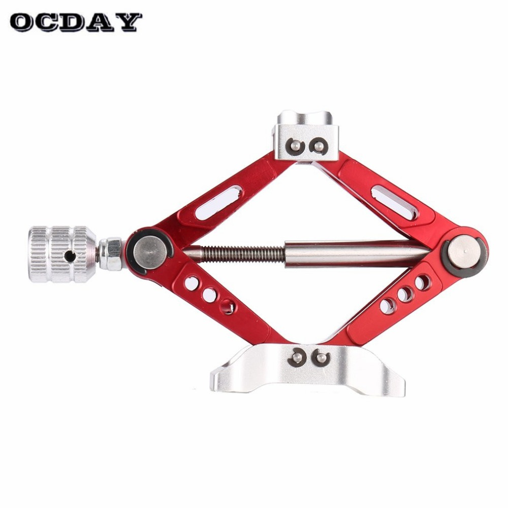 HOT Aluminum Alloy Metal Adjustable Jack Stand Repair Rack for 1 10 Scale Off road Crawler RC Car RC4WD D90 SCX10 ti in Parts Accessories from Toys Hobbies