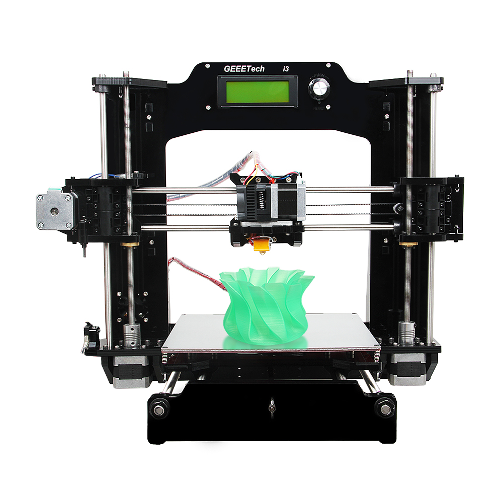 Geeetech Newest 3D Printer Reprap i3-X DIY Kit Acrylic Frame 5 Materials Support LCD Free 2017 newest geeetech aluminum 3d printer diy kit support 5 filament 1 75mm 0 3mm 0 35mm