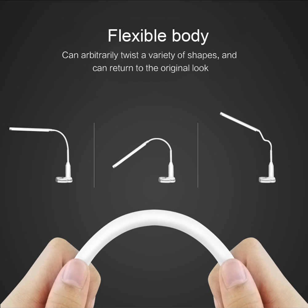Dropship 5W Eye Protect Clip Table Lamp Stepless Dimming Touch Sensor Bendable USB Powered Reading Desk Lamp
