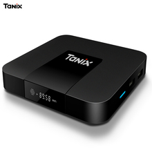 Venta caliente Android 7.1 Tanix S905W TX3 Mini TV Box 2.4 GHz WiFi Apoyo 4 K Adaptador de Carga de Múltiples lengua Negro TV Box