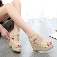 Women Sandals 2019 Summer Fashion Lace Hollow Gladiator Wedg