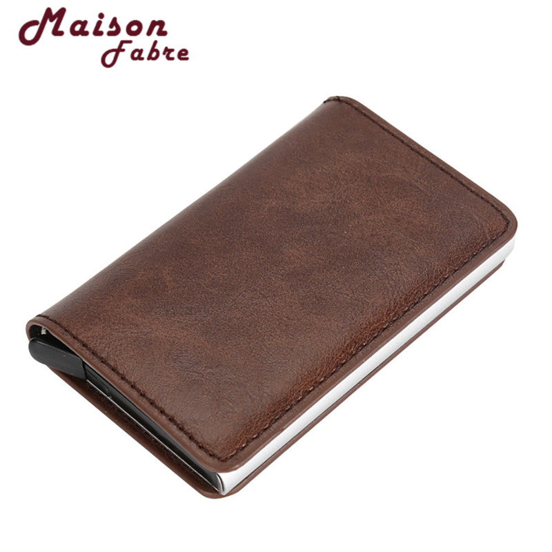 2018 Superior Quality Men Women Business Alloy Leather ID Credit Card Protector Holder Purse Wallet p# dropship