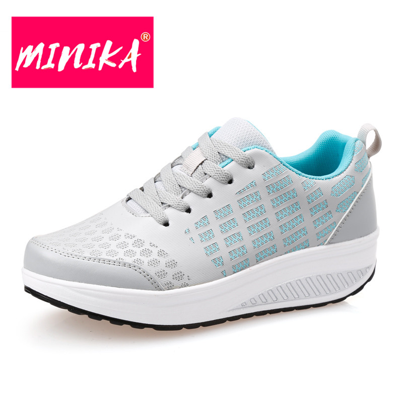 MINIKA New Arrival Women Casual Shoes Fashion Flat Platform Lace-Up Women Flat Shoes Hollow Upper Breathable Sneaker Women Shoes women s shoes 2017 summer new fashion footwear women s air network flat shoes breathable comfortable casual shoes jdt103