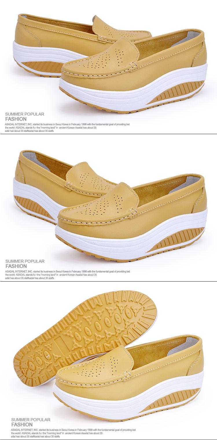 New Womens Shake Shoes Lady Genuine Leather shoes (24)