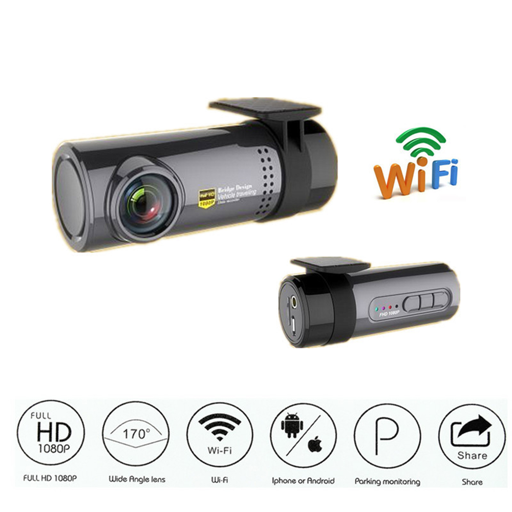 1080P HD WIFI Car DVR Hidden Camera Video Recorder Monitor For Android iPhone