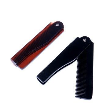 Peine plegable de bolsillo, peine mágico para el pelo, pinza para el pelo de la barba, para hombres y mujeres, peine Herramienta de Peinado para el cuidado del cabello con bigote de 17,5x2cm