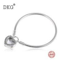 2019 New Authentic 100% 925 Sterling Silver Love Lock Magic Box Bracelet Fit Women Bracelet Fashion Charm DIY Jewelry Production