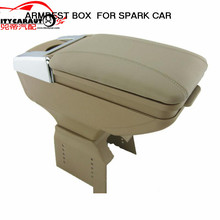 CITYCARAUTO BIGGEST SPACE+LUXURY+USB FOR SPARK Car armrest box central Storage content box with cup holder LED USB FIT FOR SPARK