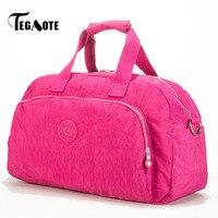 TEGAOTE Solid Large Capacity Women Travel Bag Waterproof Men Organizer Duffel Luggage Bag Ladies Casual Brand