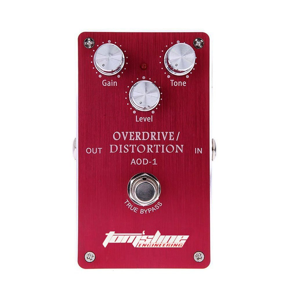 AROMA AOD-1 Overdrive Distortion Electric Guitar Effect Pedal True Bypass Low Noise agr 3 greenizer vintage overdrive guitar effect pedal aroma mini analogue guitar accessories with true bypass footswitch