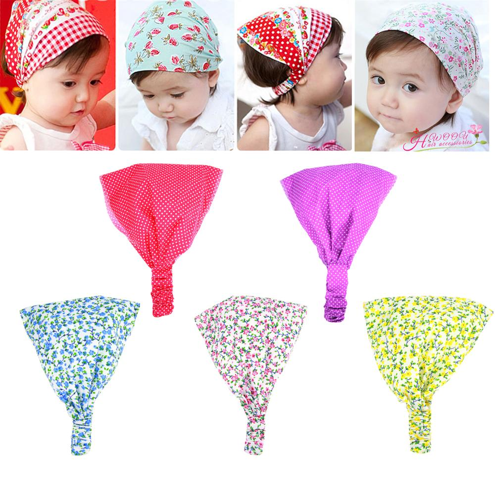 ᐃ1 unid bebé floral pañuelo de flores hairbands Bandas para la ...