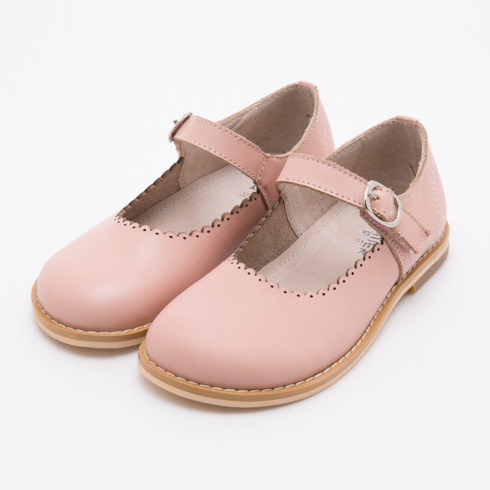 2018 new Baby Girl Shoes Children Girl Oxford Leather Green Pink Shoes  Retro Kids Girls Flats ae776c1da