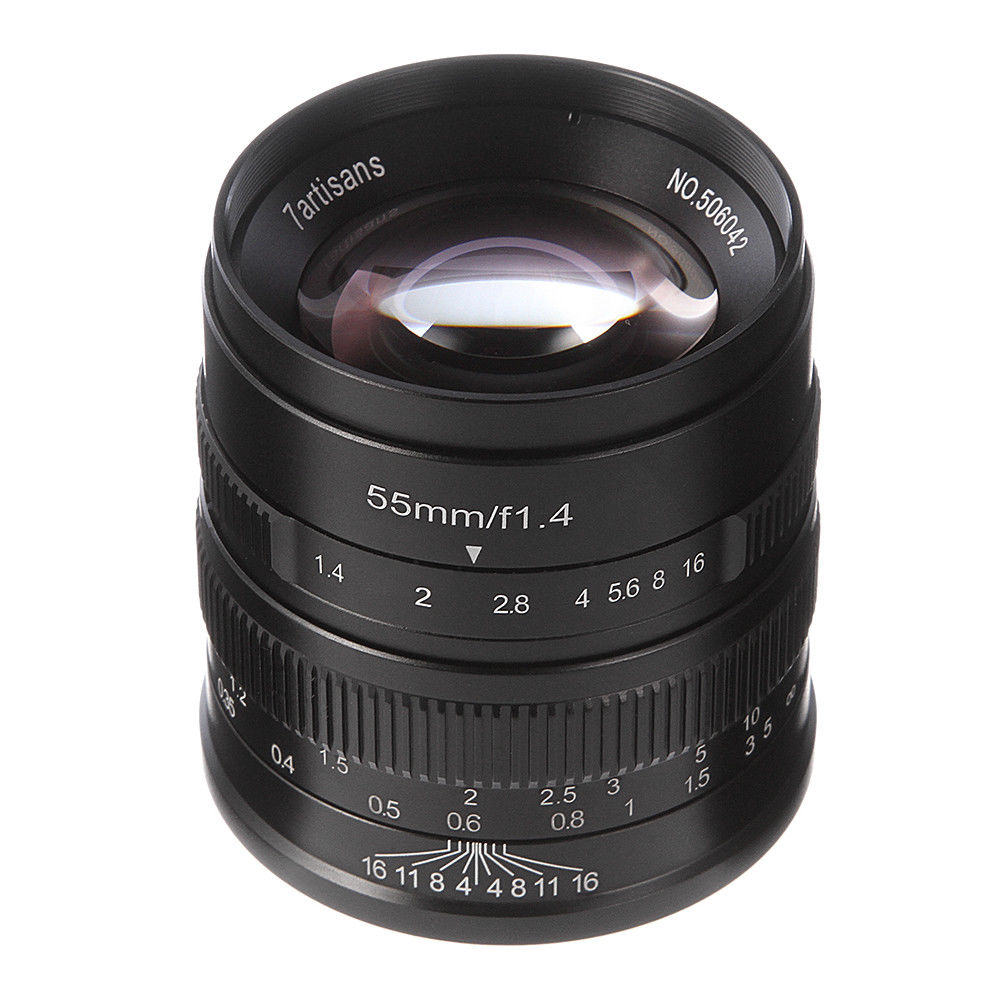 Objectif de APS-C fixe à mise au point manuelle 55mm F/1.4 pour monture Canon EF-M EOS M M2 M3 M5 M6 M10