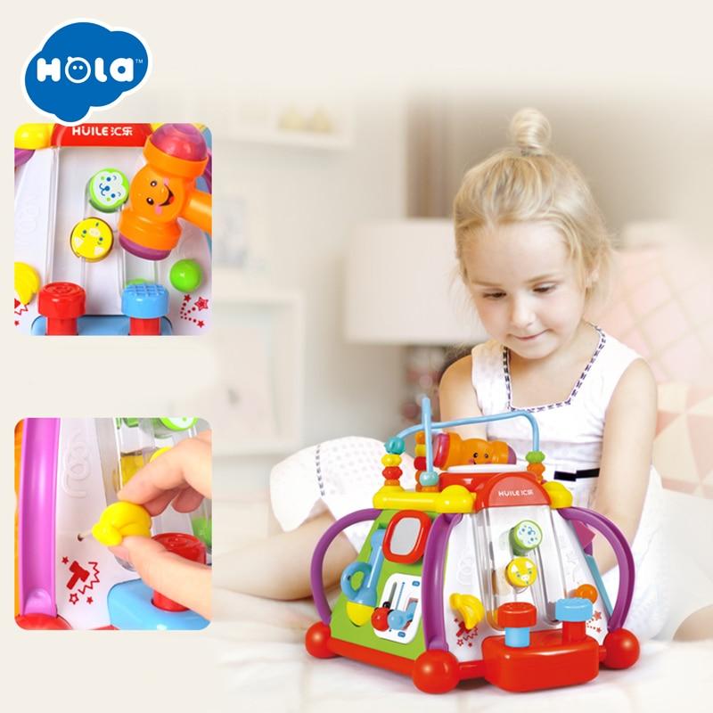 HOLA 806 jouets pour bébés Activité Musicale jouet cube D'apprentissage jeu éducatif Jouet Center avec des Lumières et Sons Jouets pour Enfants - 5