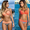 New Bikini Set 2016 Summer Low Waist Swimwear Women Sexy Bench Swimsuit Bathing Suit Push Up