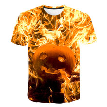 3D Print Mens Pumpkin The Nightmare Before Christmas T Shirts Stylish Graphic Homme Tees Shirt Summer Hip Hop Funny Fashion Top