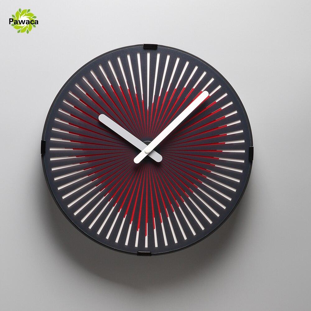 Charminer coeur rouge/Runnig cheval/hibou/marche homme magique horloge fantôme Animation dynamique salon horloges murales plastique + PVC