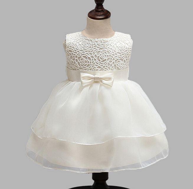 Платье для крестин, платье для крещения, свадебное платье для маленьких девочек, вечернее платье принцессы для девочек 1 год, Одежда для ново...