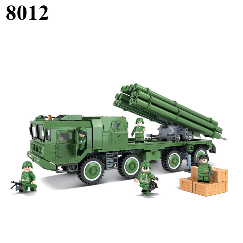 New Military series the china PHL03 300mm Rockets Missile model Building Block Classic font b toys