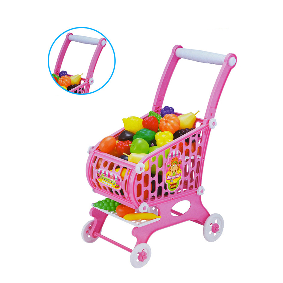 15Pcs large size Supermarket Pretend Play Shopping Cart Toys Set Children Home Educational Toy Child Play House Sets Toy in Groceries Toys from Toys Hobbies