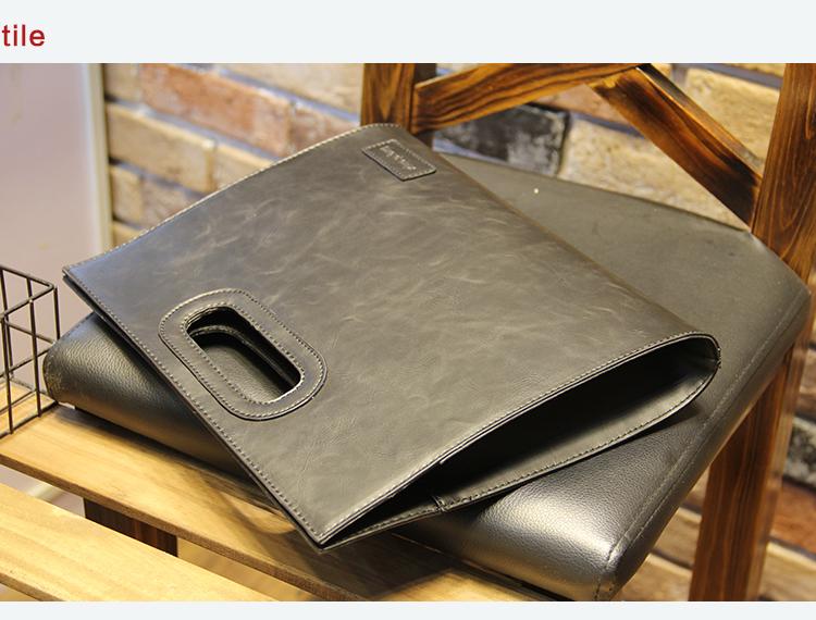 Business Casual Men Leather Designer Handbag High Quality Male Wallet Famous Brand Men's Large Capacity Clutch Bag Brown black 82