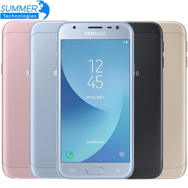 Original Samsung Galaxy J3 2017 J3300 3G 32G 5.0'' Dual SIM Mobile Phone Fingerprint NFC 13.0MP Snapdragon Quad Core Cell phone