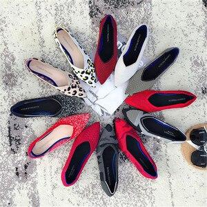 Image 1 - 2019 delle donne Scarpe Basse Scarpe di Balletto Scarpe Maglia Traspirante Scarpe A Punta Mocassino delle Donne di Colore Misto Scarpe Morbide Delle Donne Zapatos de