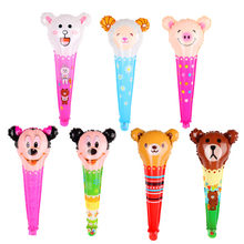Bear pig sheep rabbit Minnie Mickey Hand Stick cartoon foil Balloons Party Decoration Air birthday Balloon Children's Gifts(China)