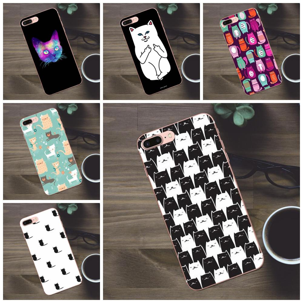 Tpu Mobile Phone Colorful Cat Cats Wallpaper For Apple Iphone 4 4s 5