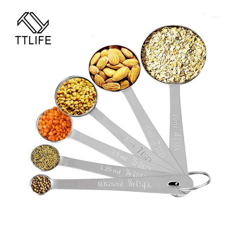 Ttlife 6pcs kitchen measuring spoons measuring cups spoon for Kitchen tool 6pcs set