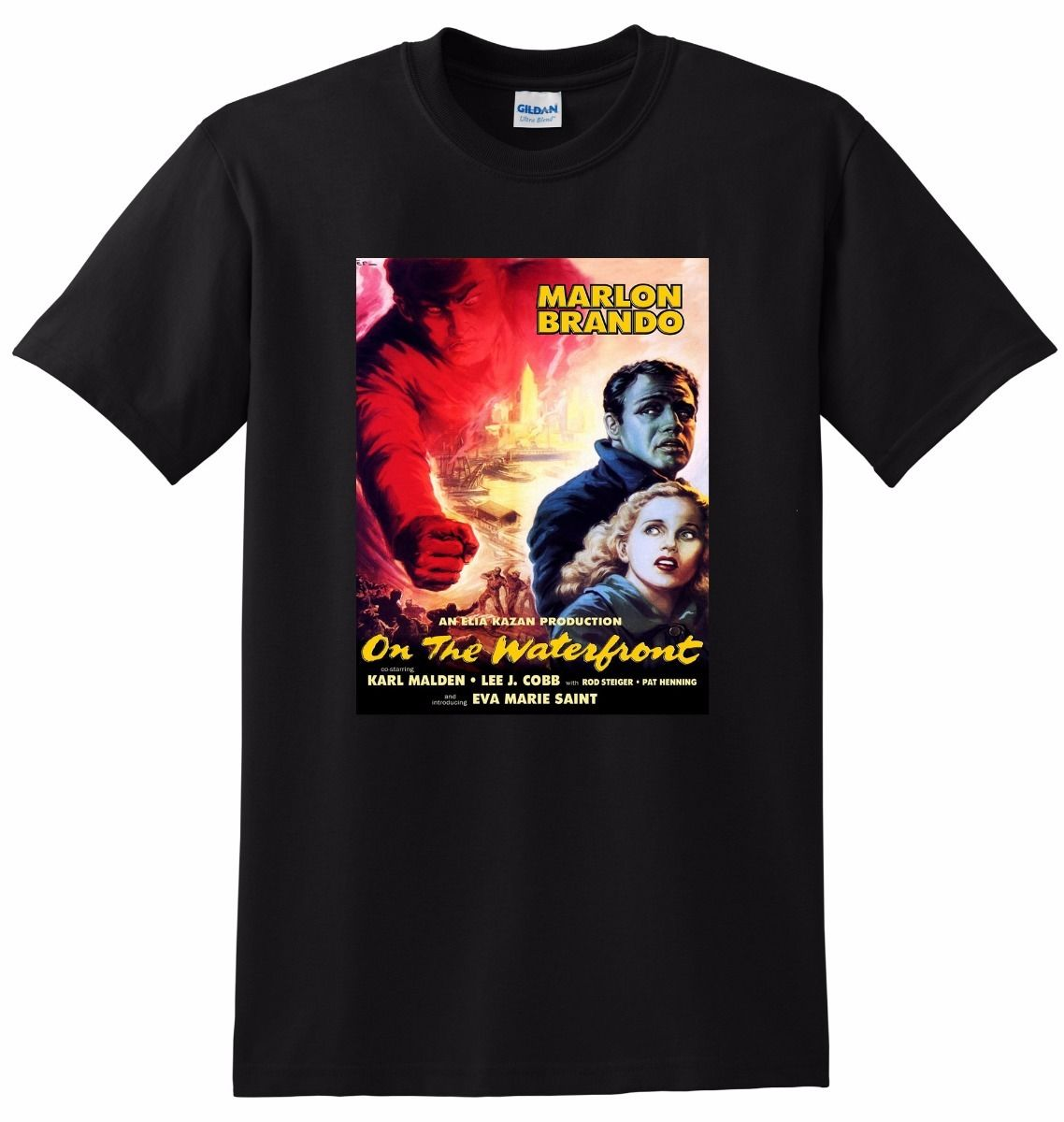 *NEW* ON THE WATERFRONT T SHIRT Bluray Poster Tee Cool Short Sleeve Men T-Shirt Casual Man Tees Mens Tops image