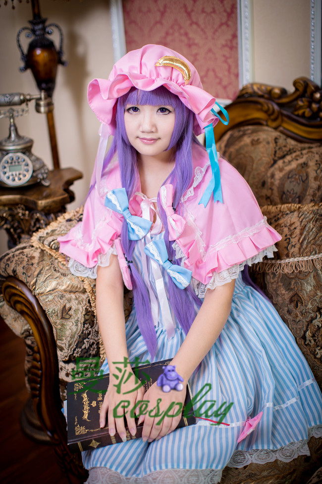 Free shipping  Touhou Project Patchouli Knowledge Cosplay Costume