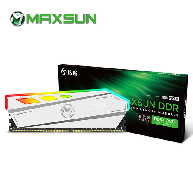 MAXSUN RGB תאורה ram ddr4 8gb 2666/3000MHz ממשק 288pin 17 17 17 39 זיכרון מתח 1.2V אחריות לכל החיים memoria