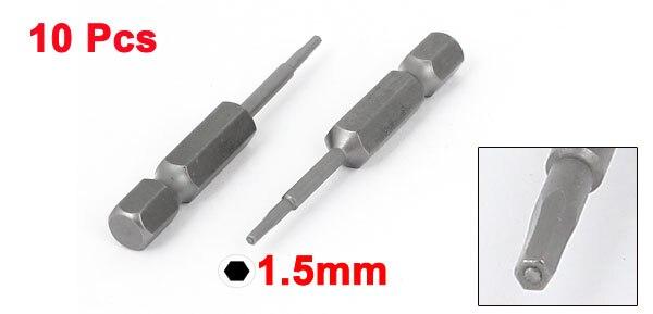 10 piezas Allen 6,35 mm v/ástago 2 mm punta Allen destornillador en puntas