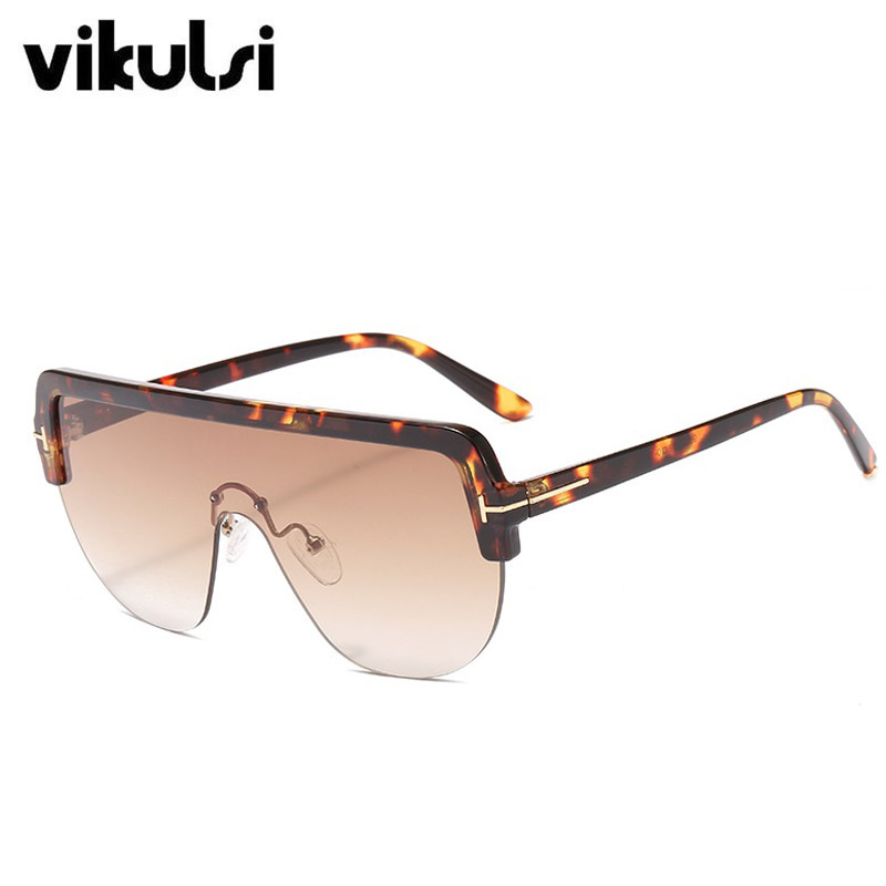 Lunettes de soleil surdimensionnées femmes 2019 marque de luxe de mode noir bouclier lunettes une pièce hommes ombre masque lunettes de soleil zonnebril dame
